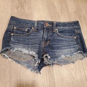American Eagle fringe bottom shorts